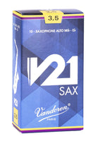 Vandoren SR8135 Alto Saxophone V21 Reeds Strength #3.5. (Box of 10)