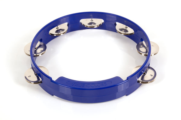 Rhythm Tech TC4048 True Colors Tambourine. Blue 8""