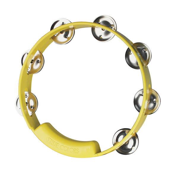 Rhythm Tech TC4058 True Colors Tambourine. Yellow 8""