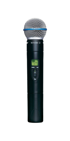 Shure ULX2/BETA58-J1 Wireless Handheld Microphone Transmitter. Frequency Band Version J1