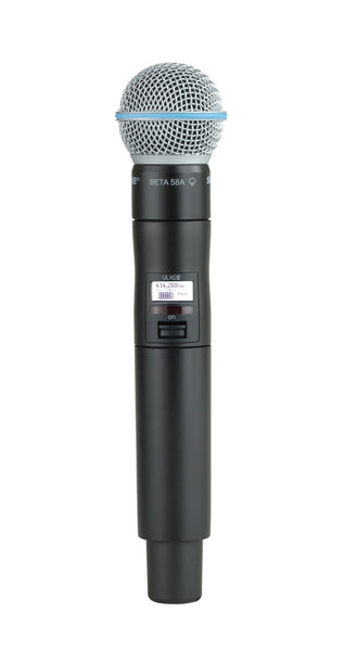 Shure ULXD2/B58-J50A Digital Handheld Transmitter with Beta 58A Capsule. Frequency Band Version