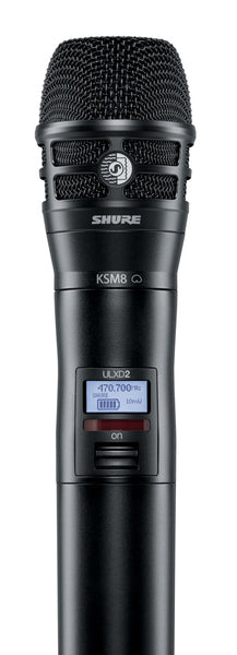 Shure ULXD2/K8B-J50 Digital Handheld Transmitter with KSM8 Capsule. Frequency Band Version
