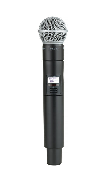 Shure ULXD2/SM58-H50 Digital Handheld Transmitter with SM58. Frequency Band (534-598 MHz)