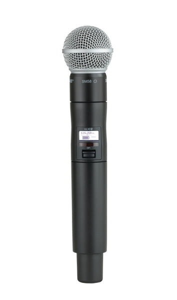 Shure ULXD2/SM58-J50A Digital Handheld Transmitter with SM58 Capsule. Frequency Band Version