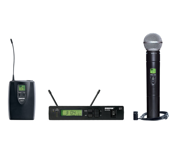 Shure ULXS124/85-J1 Combo Wireless System. Frequency Band Version J1