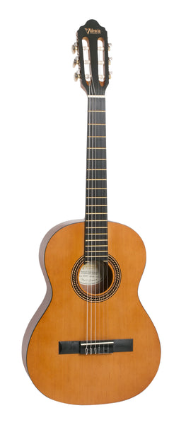 Valencia VC203 200 Series 3/4 Size Classical Guitar. Antique Natural Finish Hybrid Slim Neck