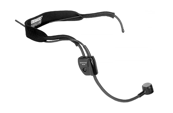 Shure WH20XLR Dynamic Headset Microphone. Includes 3 Pin Male XLR With Detachable Belt Clip