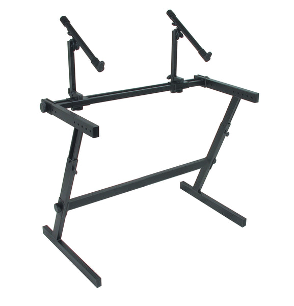 Quik Lok Z-726L Z Frame Keyboard Stand. Double Tier Extra Wide
