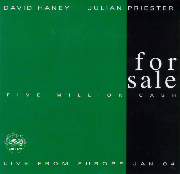 David Haney - Julian Priester - For Sale: Five Million Cash - CJR 1179