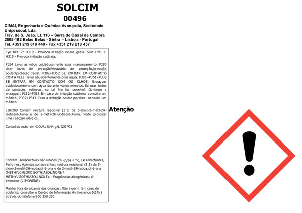 SOLCIM - Universal concentrated biodegradable detergent