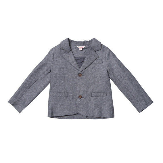 Fox and Finch Dressy Textured Charcoal Blazer - RedHill Childrenswear