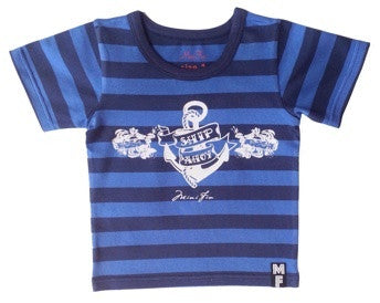 Mini Fin Navy Blue Tee - RedHill Childrenswear
