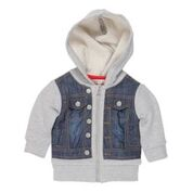 FOX & FINCH Greenwich Denim Vest Hoodie/Jacket