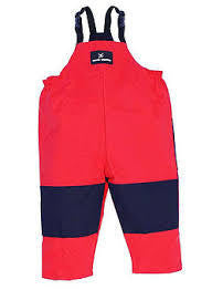 Muddy Puddles Navy Red Overalls