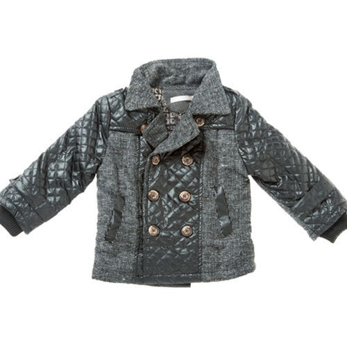 Designer Kidz Boys Quilt Black Jacket - RedHill Childrenswear