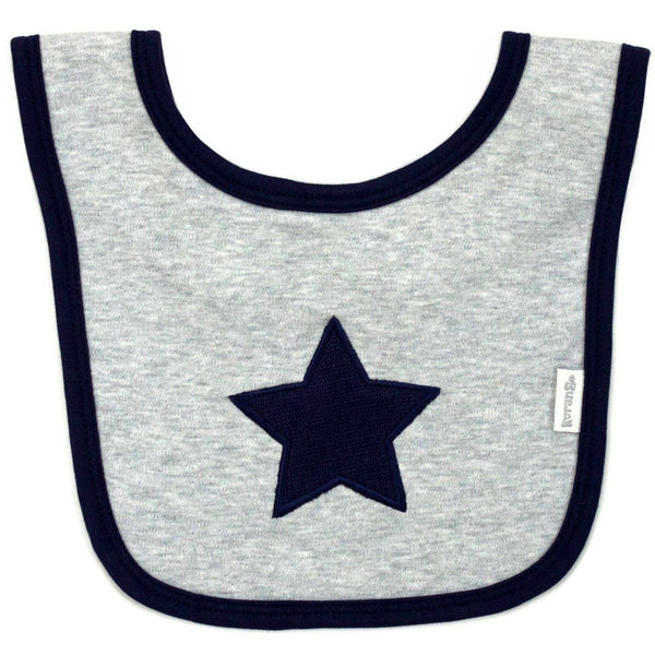 Korango Grey Little Star Bib - RedHill Childrenswear