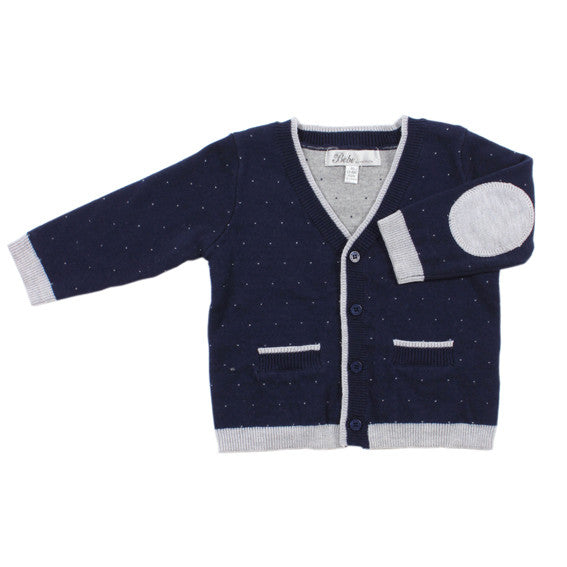 BEBE Cole Classic Navy Cardigan - RedHill Childrenswear