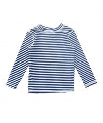 Rhubarb Navy and white Stripe Rashie - RedHill Childrenswear