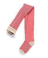 Ouch Berry Off White Stripe Tights - RedHill Childrenswear