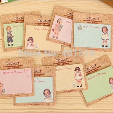 Sticky Notes Paper Doll - RedHill Childrenswear