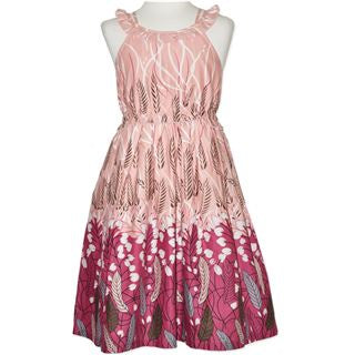 Candy Stripes Tween Girls Floral Print Dress