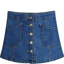 Funky Babe Girls Denim Skirt