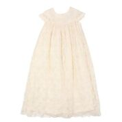 Bebe Special Occasion Long Lace Christening Gown
