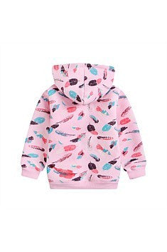 Funky babe Girls Feather Hoodie