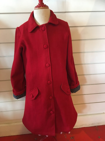 ETERNAL CREATION Classic Red Wool Coat/Jacket