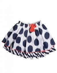 Petit Lem Girls Navy Spot Skirt - RedHill Childrenswear