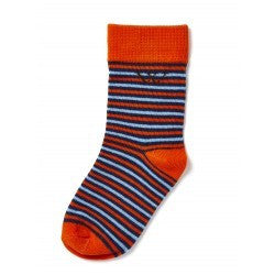 Walnut Blue Orange Stripe Socks - RedHill Childrenswear