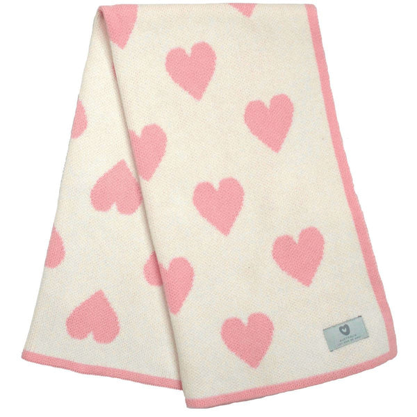 KORANGO Cream Hearts Blanket - RedHill Childrenswear