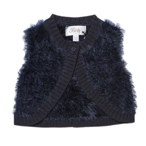 Bebe Olive Fluffy Vest - RedHill Childrenswear