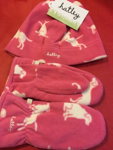 Hatley Pink Mittens and Hat - RedHill Childrenswear