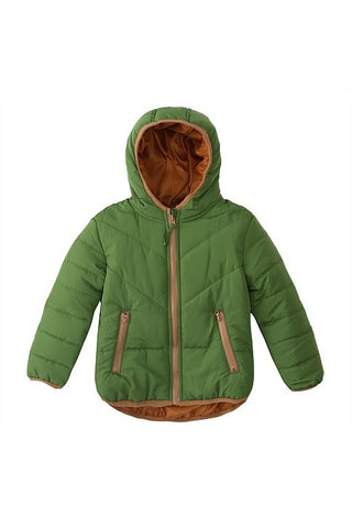Urban Crusade Boys Puff Hood Jacket