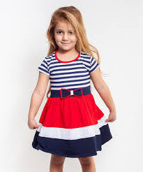 Dalmaz Striped Bow Dress - RedHill Childrenswear