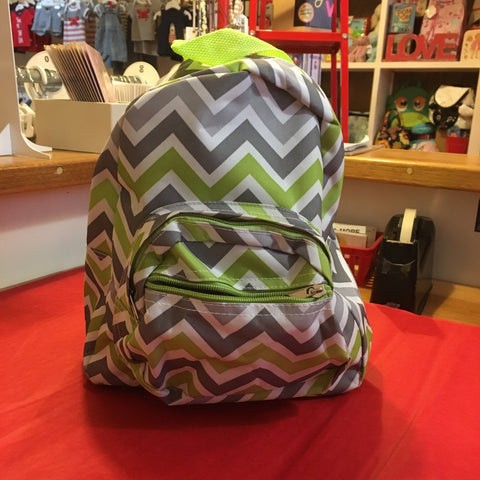 Small Backpack Green and Grey - RedHill Childrenswear