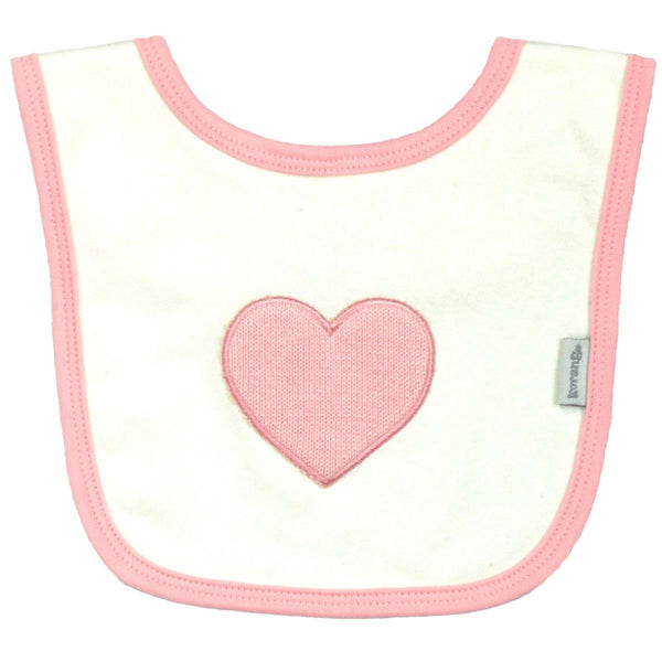 Korango Baby Hearts Cream Bib - RedHill Childrenswear