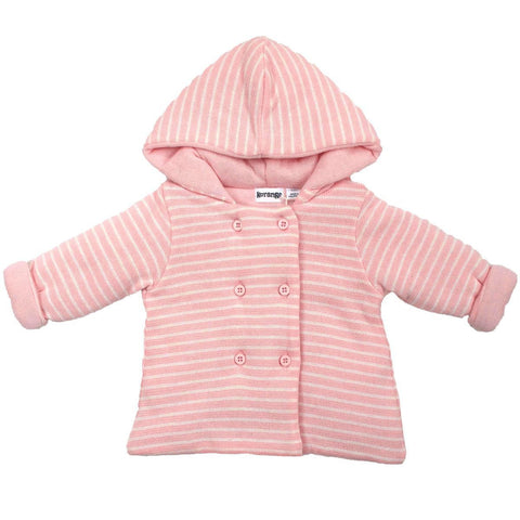 KORANGO Pink Stripe Baby Hearts Lined Knit Jacket - RedHill Childrenswear
