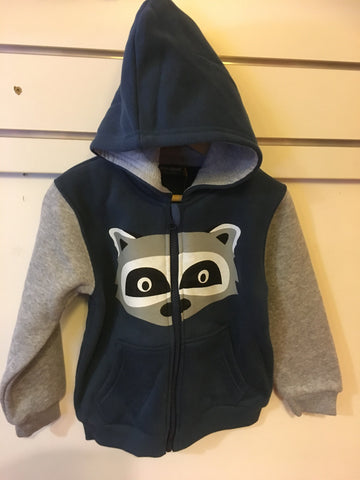 Urban Crusade Boys Denim Racoon Hoodie/Jacket