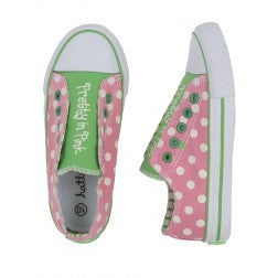 Hatley Girls Retro Dots Canvas Shoes - RedHill Childrenswear