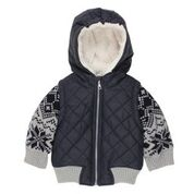 Bebe Rocket Knit Mix Jacket with Hood
