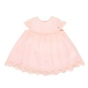 Bebe SO Short Sleeve Blush Pink Lace Dress