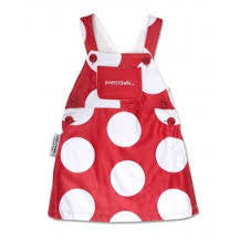 OVERCRAWLS Skirt with Bib Red Spots