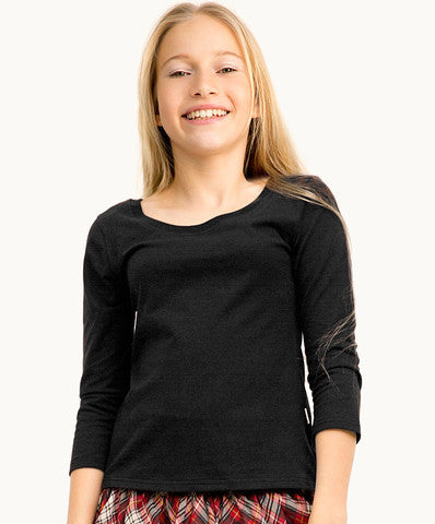 ETERNAL CREATION Black Scoop Neck Top - RedHill Childrenswear