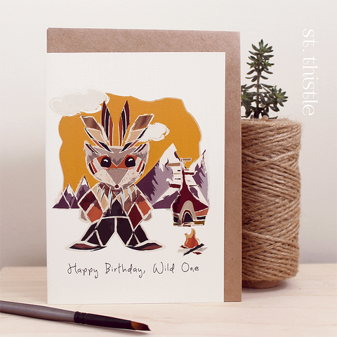 St Thistle Birthday Wild One Card - RedHill Childrenswear