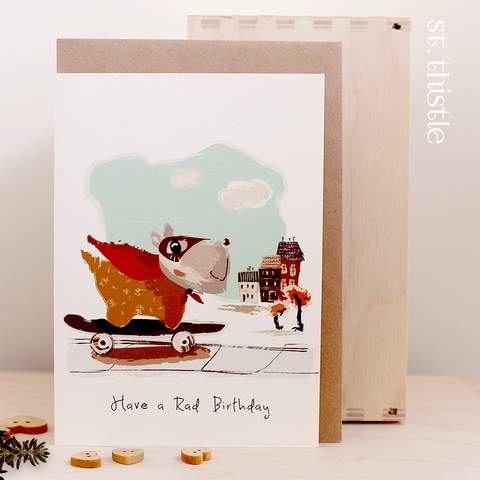 St Thistle Rad Birthday Card - RedHill Childrenswear