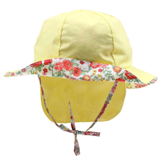 BEBE Alisa Lemon Round Sun Hat - RedHill Childrenswear