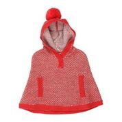 BEBE Alana Hooded Knit Poncho/Jacket