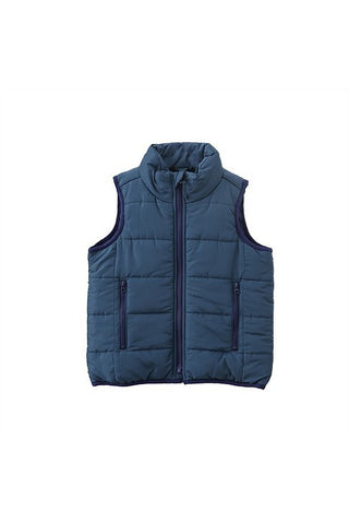 Urban Crusade Boys dark Blue Puffa Vest